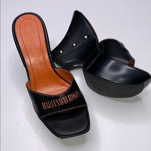 Harley-Davidson Studded Wedge Sandals 6